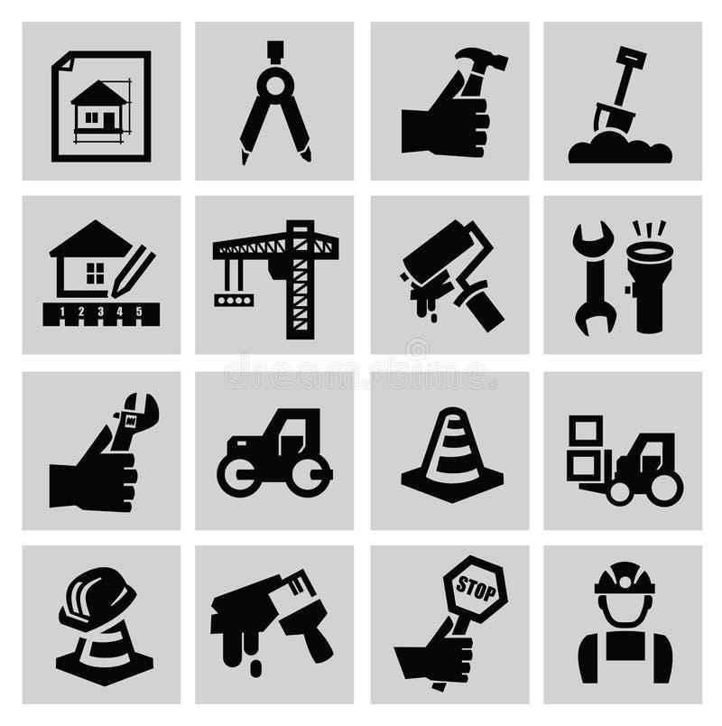 Icônes de construction illustration stock