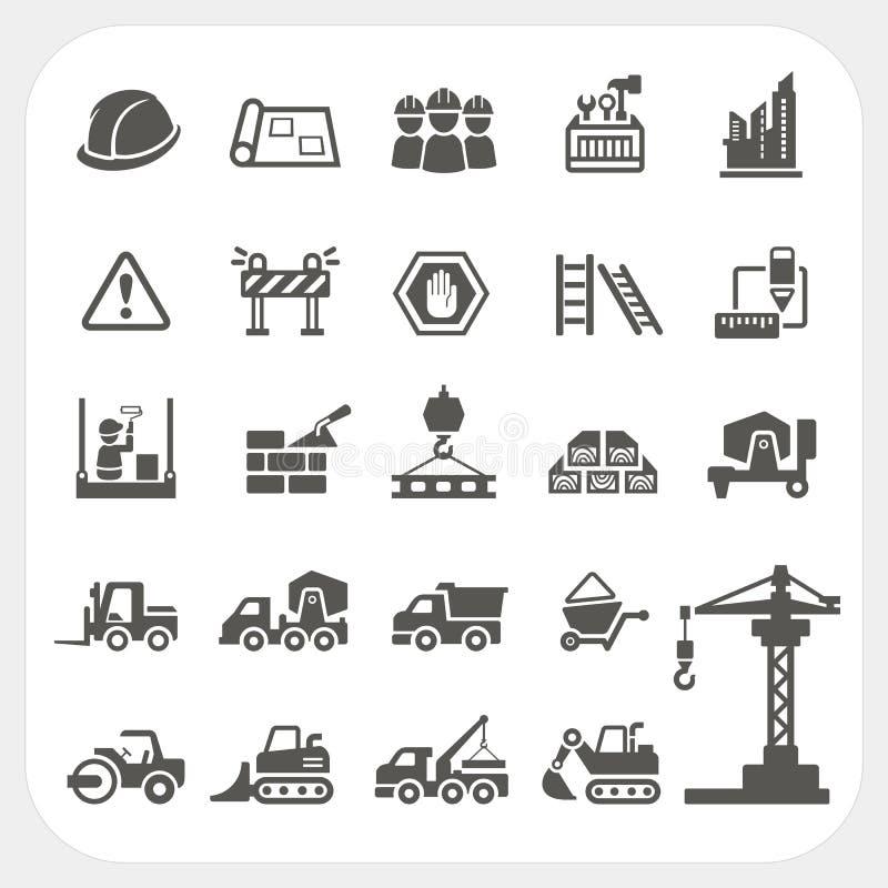 Icônes de construction réglées illustration de vecteur