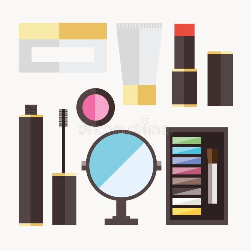 Icônes de cosmétique de beauté illustration libre de droits