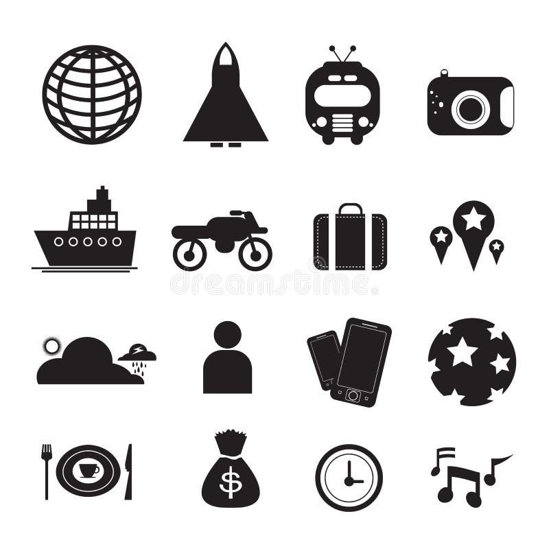 Icônes de déplacement de vecteur pour le Web et le mobile illustration libre de droits
