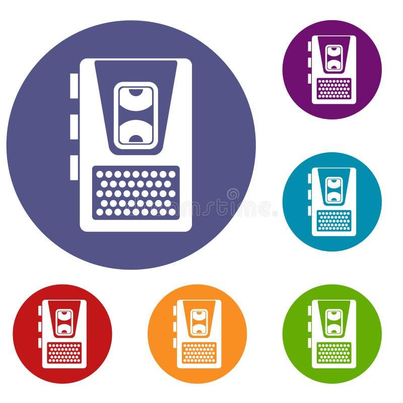 Icônes de dictaphone réglées illustration de vecteur