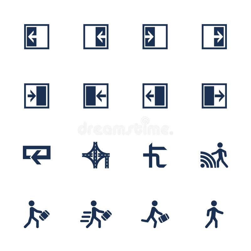 Icônes de direction de mouvement illustration libre de droits