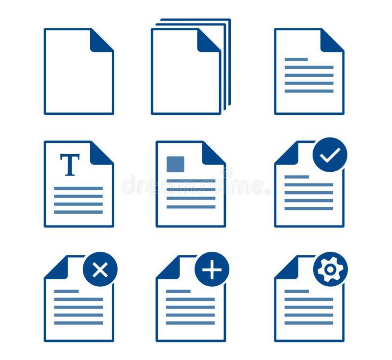 Icônes de documents illustration de vecteur