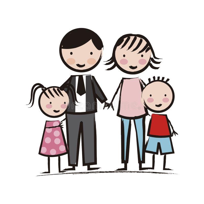Icônes de famille illustration libre de droits