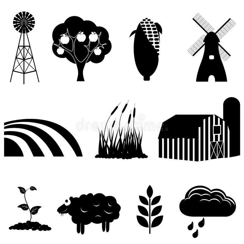 Icônes de ferme et d'agriculture