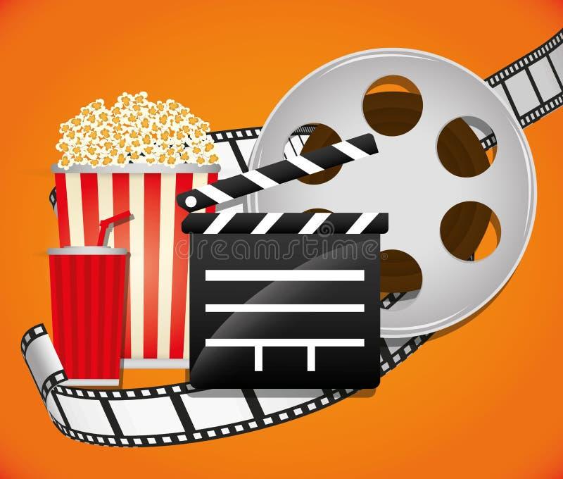 Icônes de film et de cinéma illustration libre de droits