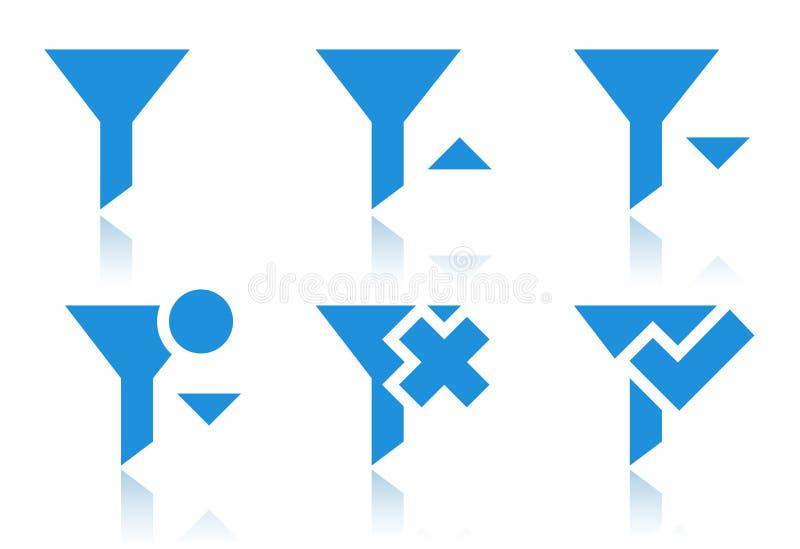 Icônes de filtre illustration libre de droits