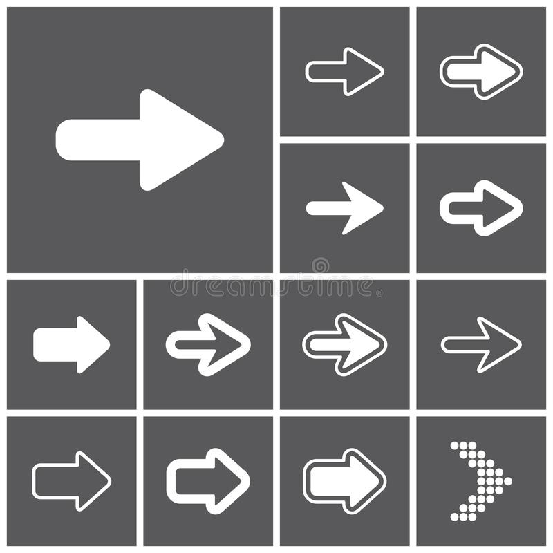 Icônes de flèche illustration libre de droits
