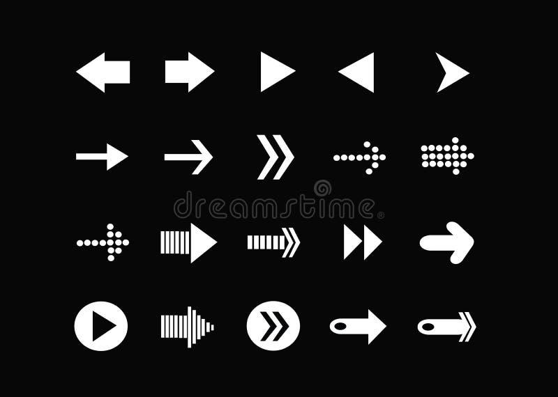 Icônes de flèche pour le Web illustration libre de droits