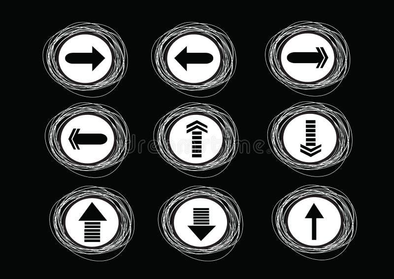Icônes de flèche pour le Web illustration stock