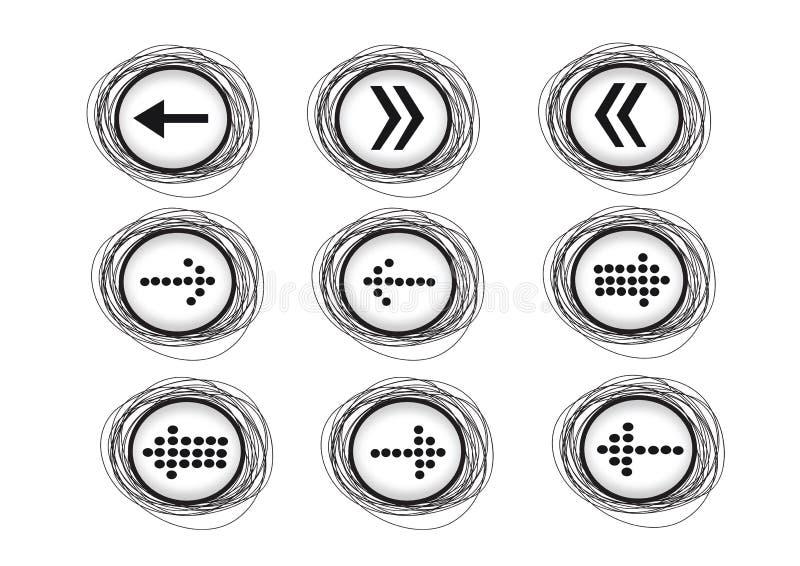 Icônes de flèche pour le Web illustration de vecteur