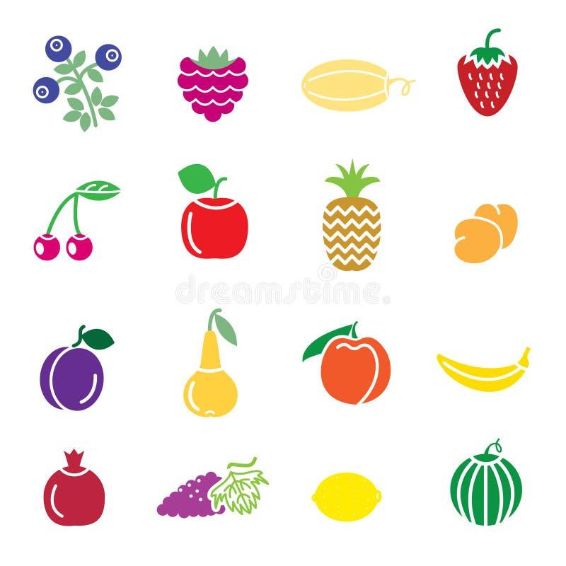 Icônes de fruit illustration de vecteur