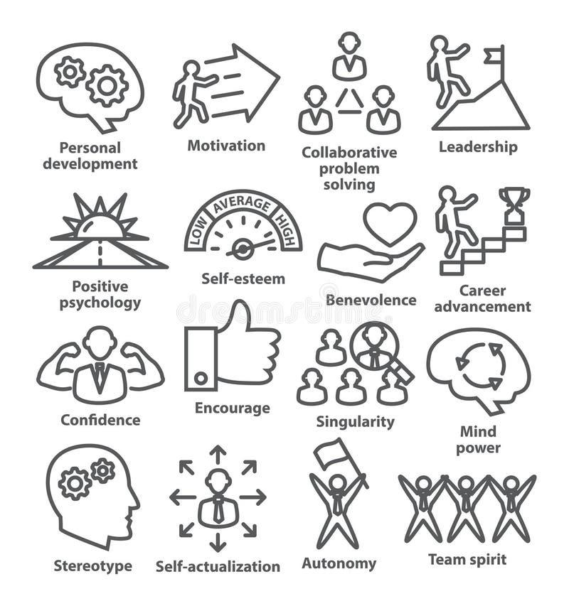 Icônes de gestion d'entreprise dans la ligne style Paquet 16 illustration stock