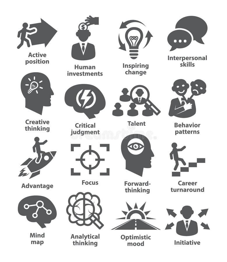 Icônes de gestion d'entreprise Paquet 19 illustration de vecteur