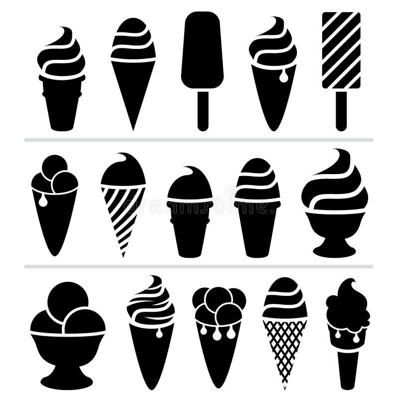 Icônes de glace illustration libre de droits