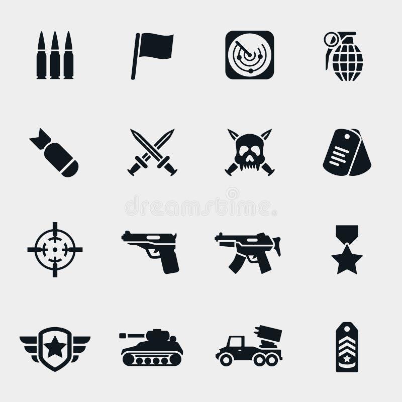 Icônes de guerre de vecteur illustration libre de droits