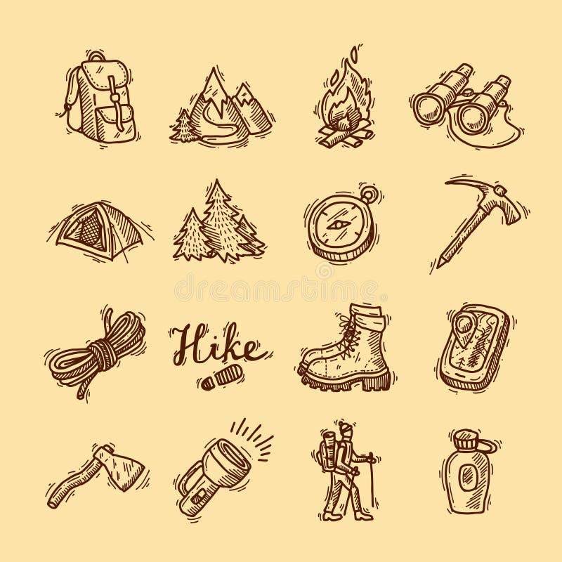 icônes de hausse illustration stock