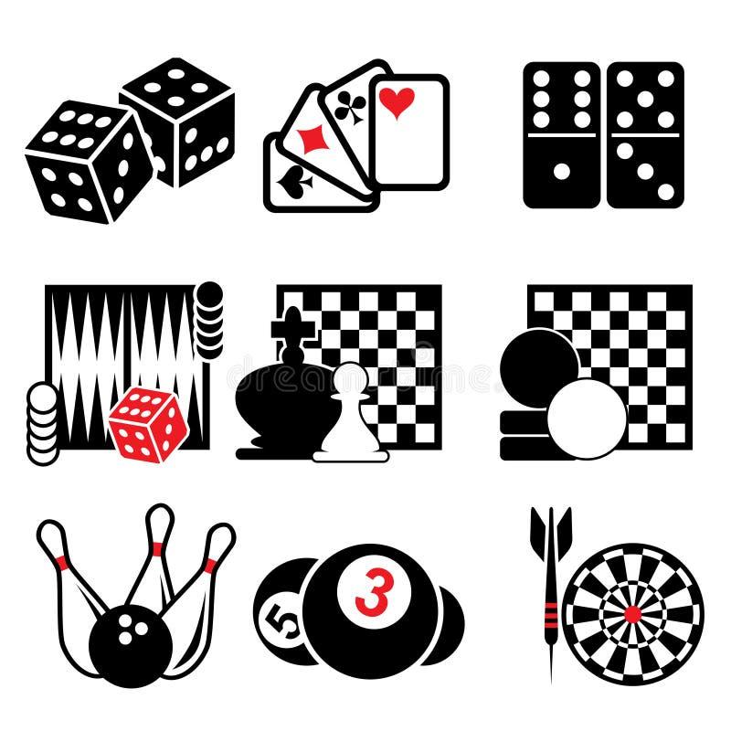 Icônes de jeu illustration de vecteur