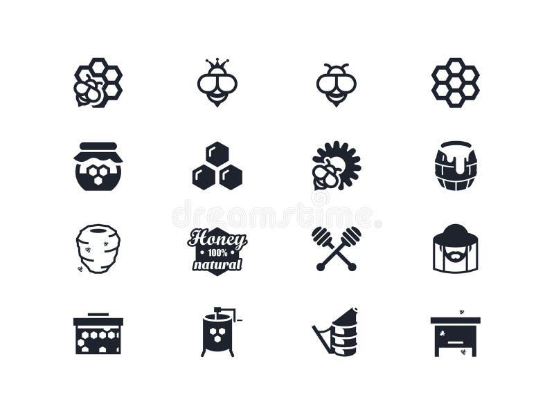 Icônes de l'apiculture Série de Lyra illustration de vecteur