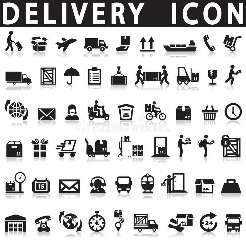 Icônes de la livraison illustration stock