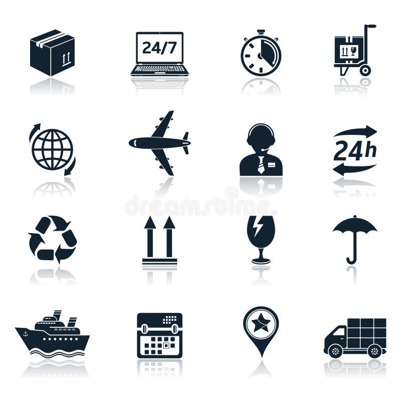 Icônes de la livraison et de transport illustration stock