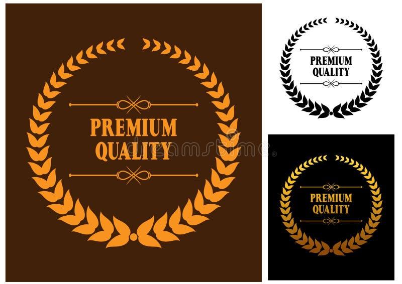 Icônes de la meilleure qualité de guirlande de laurier de qualité illustration libre de droits