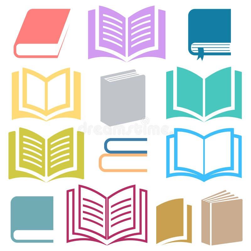 Icônes de livre illustration stock