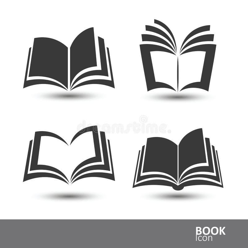 Icônes de livre illustration de vecteur