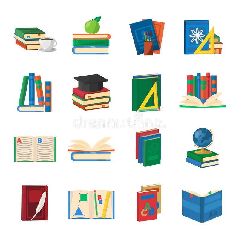 pile de dictionnaires  apprenant la langue  u00e9trang u00e8re illustration stock