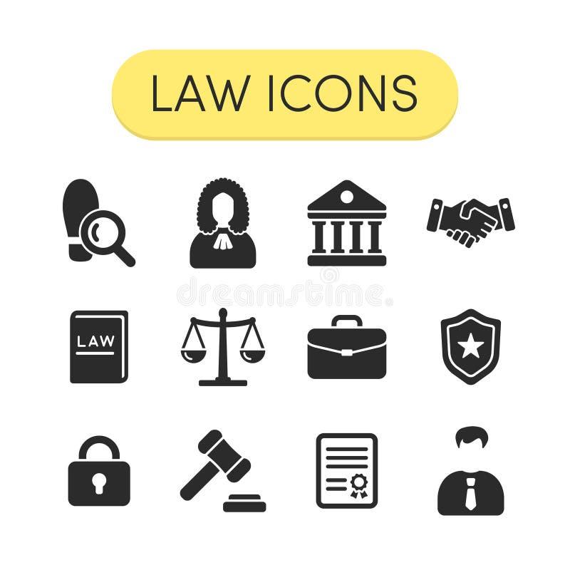Icônes de loi illustration de vecteur