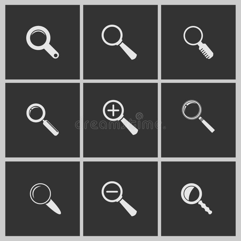 Icônes de loupe illustration libre de droits