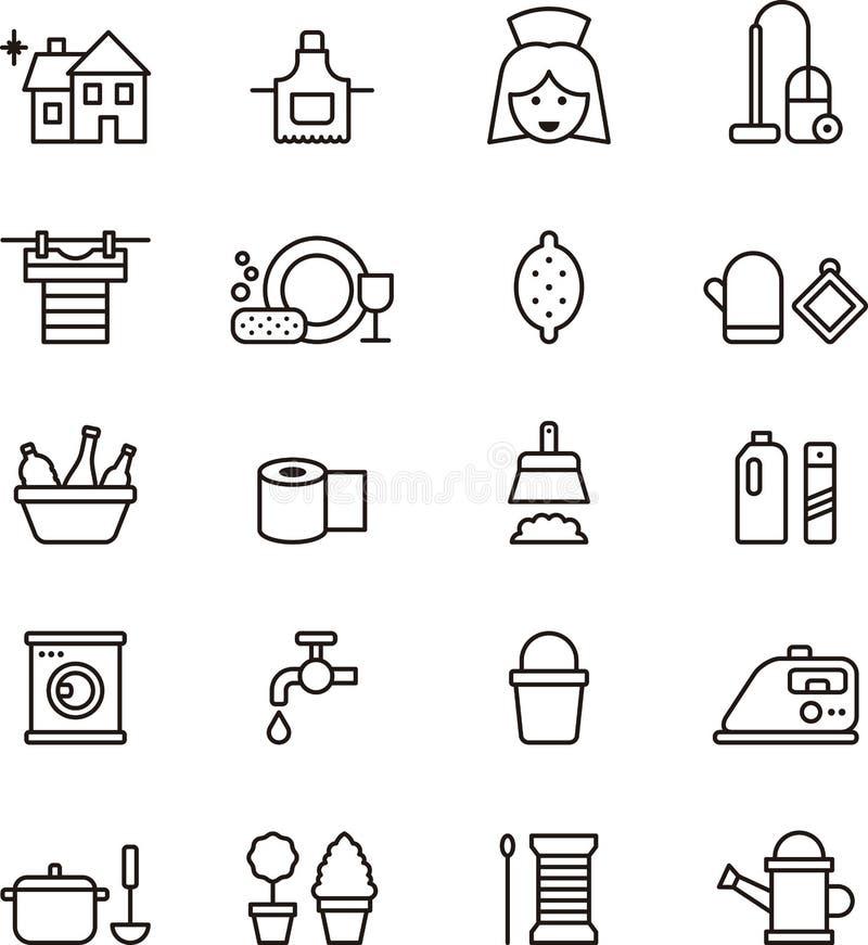 Icônes de ménage illustration de vecteur