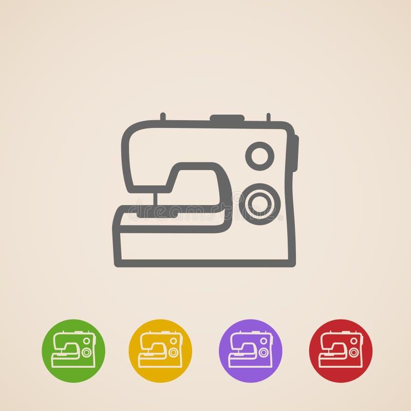 Icônes de machine à coudre illustration stock