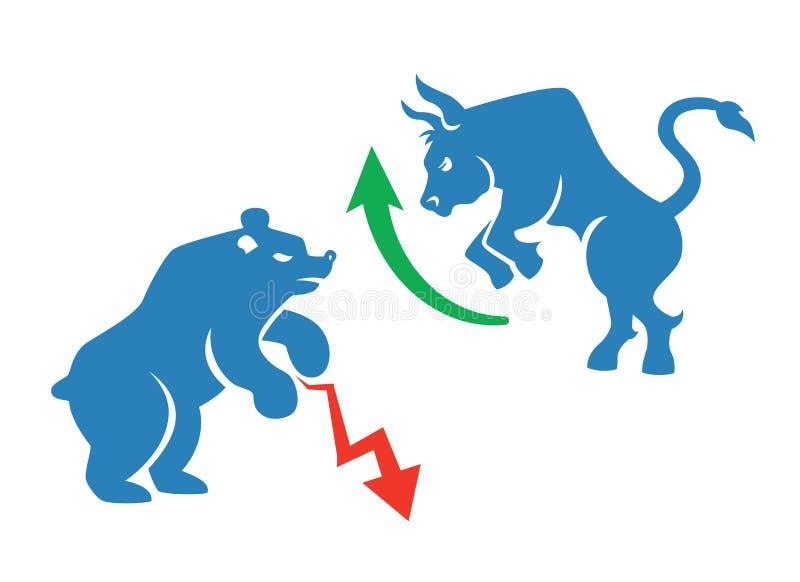 Icônes de marché boursier illustration de vecteur