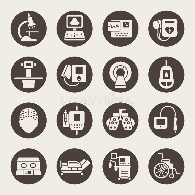 Icônes de matériel médical illustration de vecteur