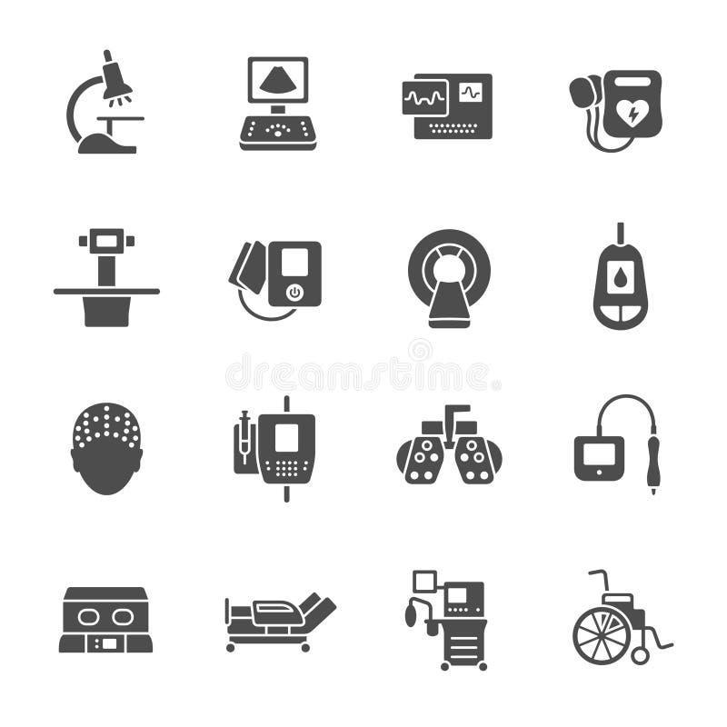 Icônes de matériel médical illustration libre de droits