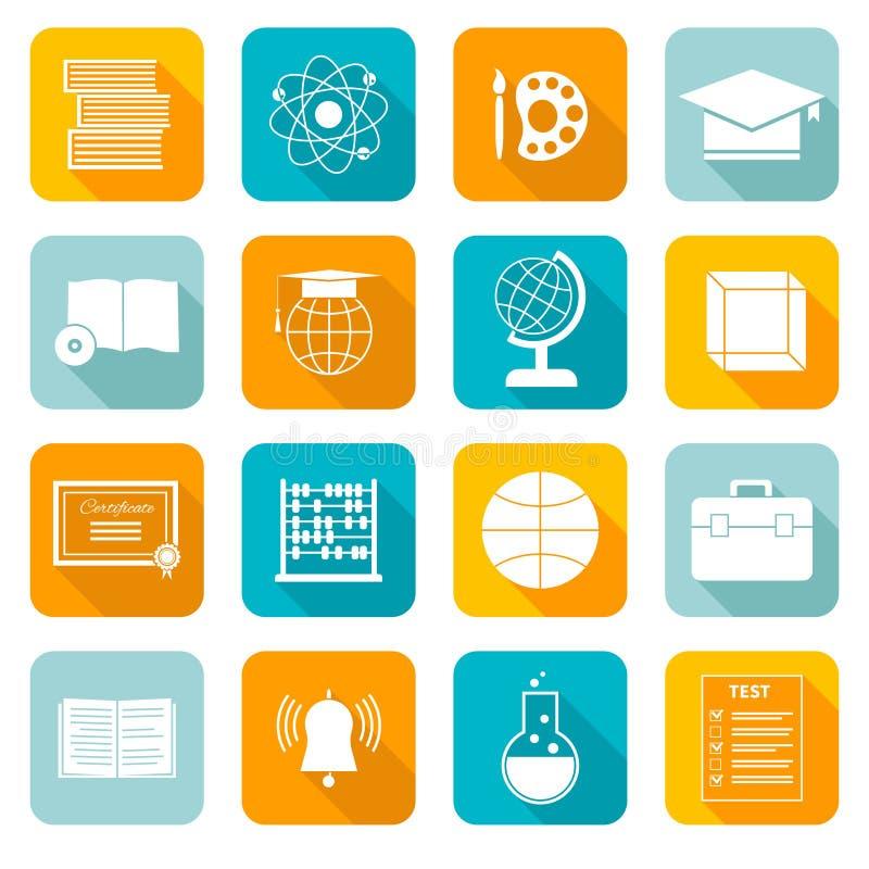 Icônes de matière d'enseignement illustration libre de droits