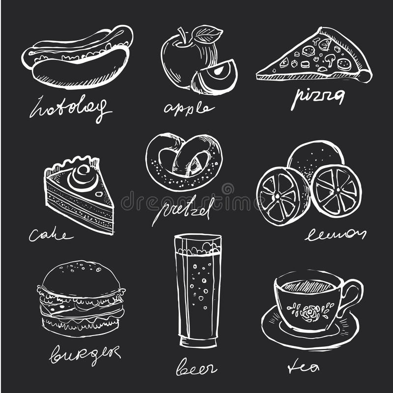 Icônes de menu illustration stock