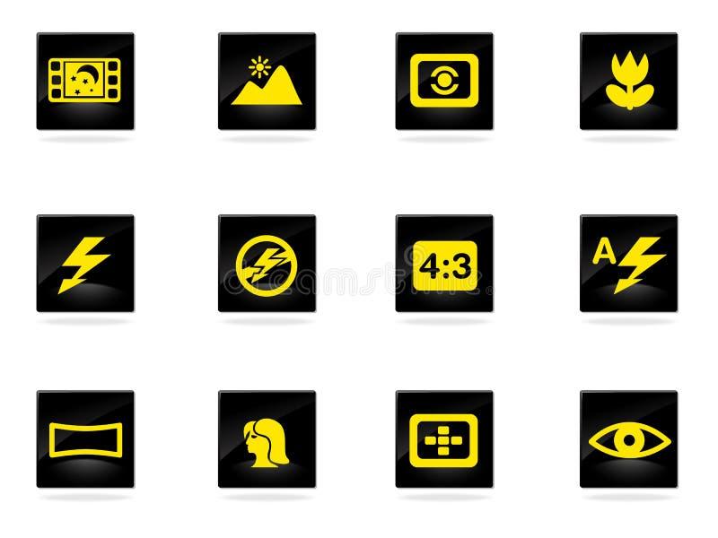Icônes de modes de photo réglées illustration libre de droits