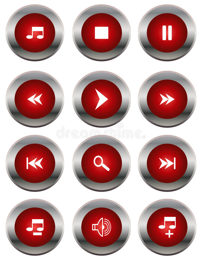 Icônes de multimédia illustration libre de droits