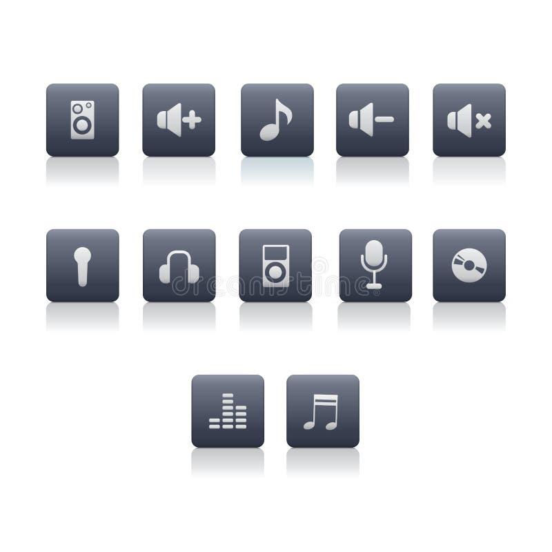 Icônes de musique illustration libre de droits