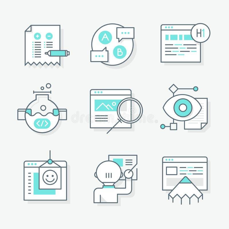 Icônes de nouvelle conception de site Web illustration libre de droits