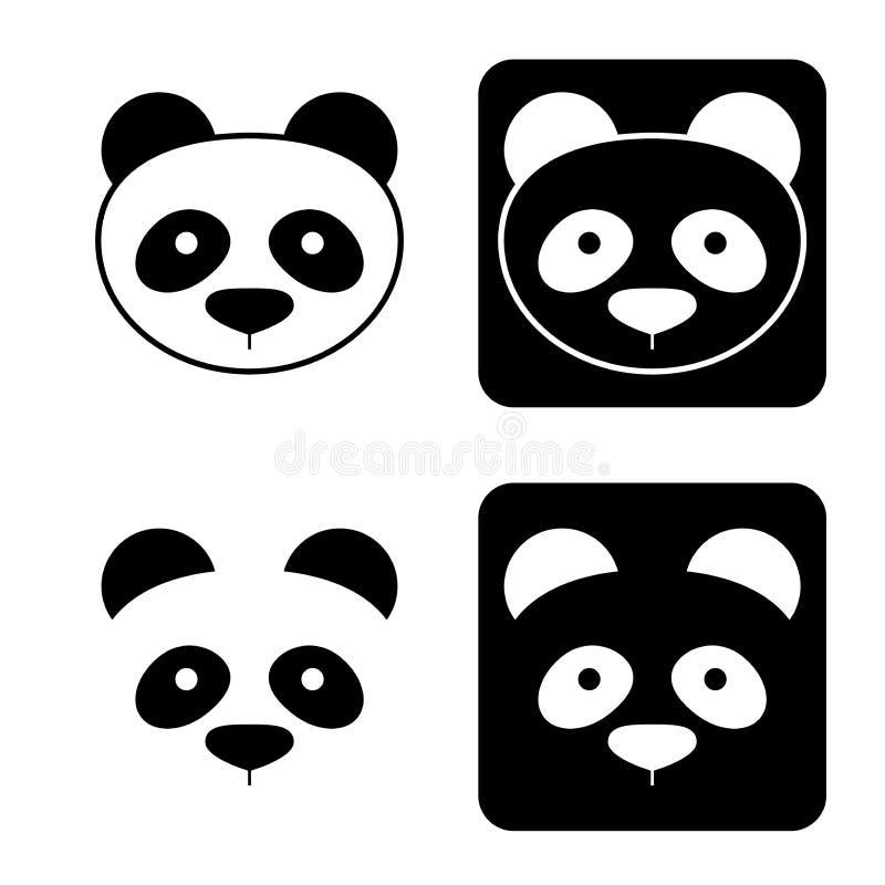 Icônes de panda illustration libre de droits