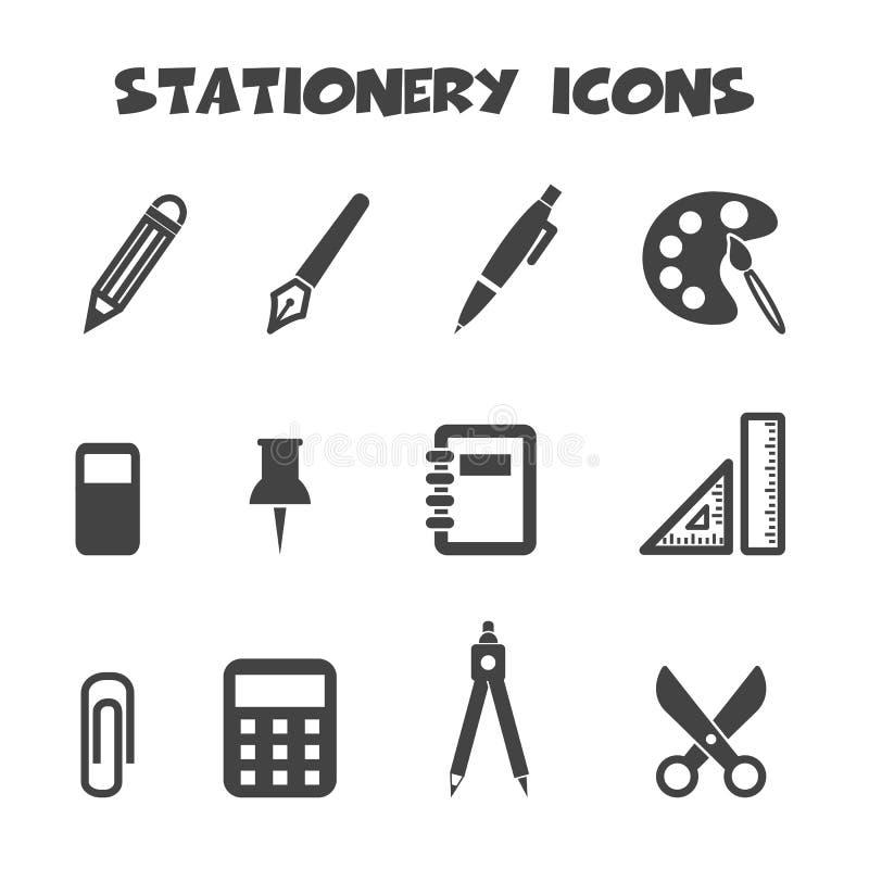 Icônes de papeterie illustration de vecteur