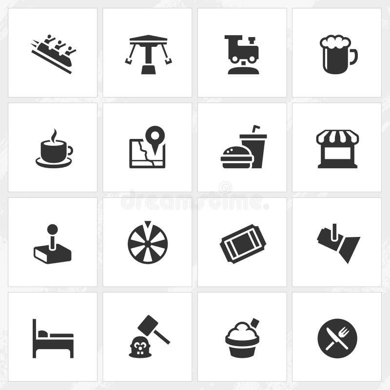 Icônes de parc à thème illustration libre de droits