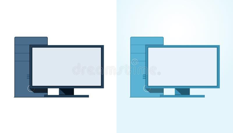 Icônes de PC illustration libre de droits