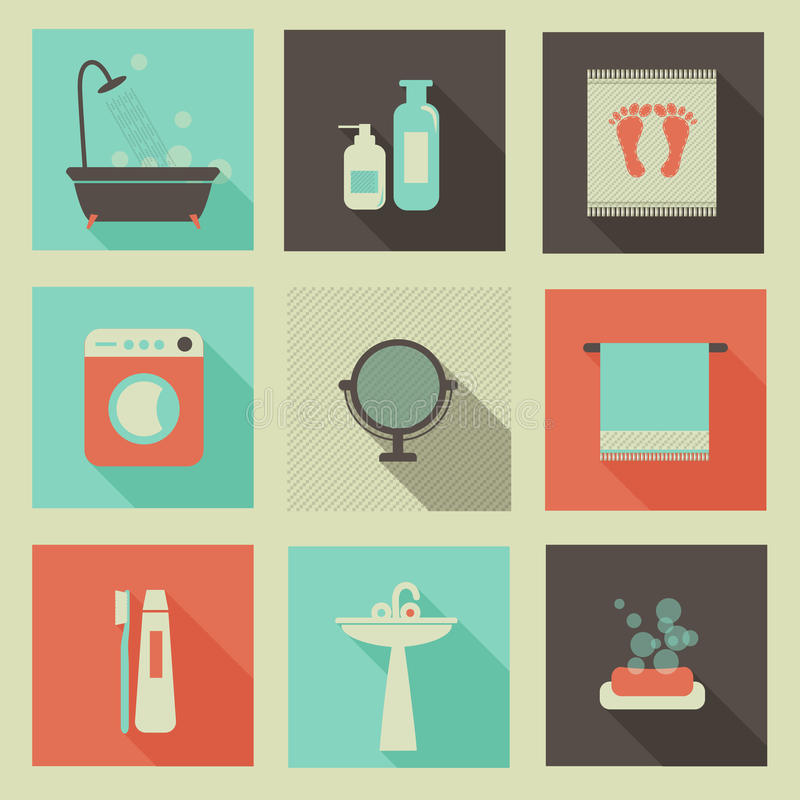 Icônes de pièce de Bath photographie stock libre de droits