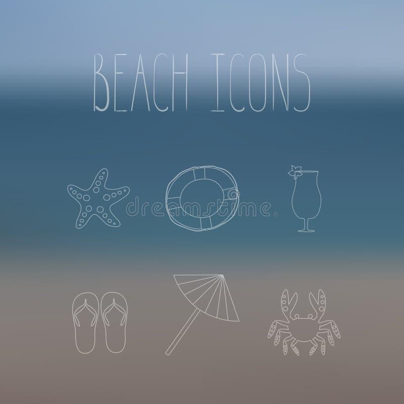 Download Icônes de plage illustration de vecteur. Illustration du saison - 56475307
