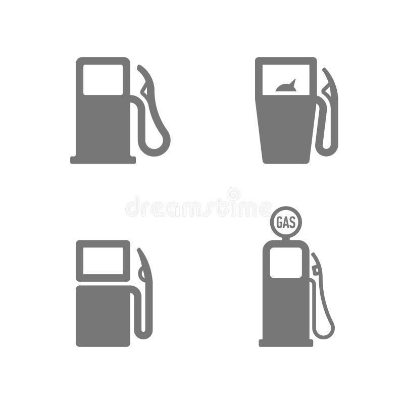 Icônes de pompe à gaz illustration stock