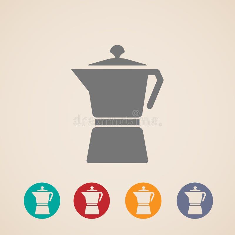Icônes de pot de café illustration libre de droits